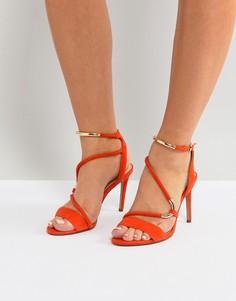 Оранжевые босоножки с ремешками Carvela - Оранжевый