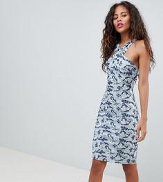 Платье-футляр с цветочной вышивкой Dolly & Delicious Tall - Мульти