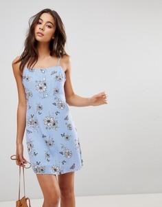 Платье-майка с пуговицами Oh My Love - Синий