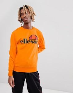 Оранжевый свитшот с крупным логотипом ellesse - Оранжевый
