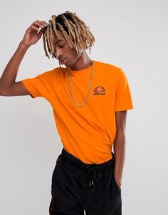 Оранжевая футболка с небольшим логотипом на груди ellesse - Оранжевый