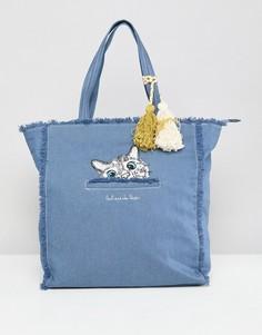 Джинсовая сумка для покупок Paul & Joe Sister - Синий