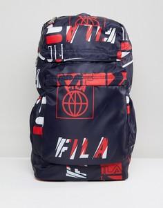 Темно-синий рюкзак с принтом логотипа Fila Rouke - Темно-синий