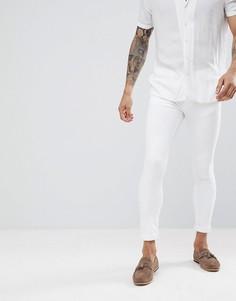 Белые супероблегающие джинсы River Island - Белый