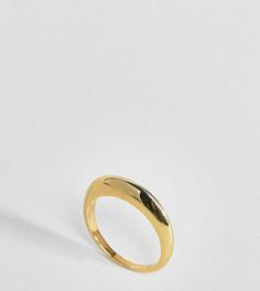Позолоченное серебряное широкое кольцо ASOS DESIGN - Золотой