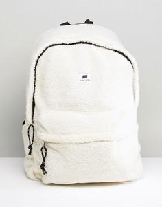 Белый рюкзак из искусственной цигейки SWEET SKTBS - Белый