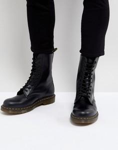 Черные ботинки с 10 парами люверсов Dr Martens 1490 - Черный