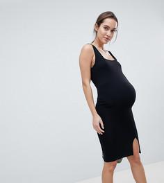 Облегающее платье миди с квадратным вырезом ASOS DESIGN Maternity - Черный