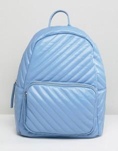 Стеганый рюкзак Pieces - Синий