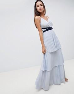 Ярусное платье макси ASOS DESIGN - Синий