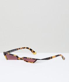Черепаховые солнцезащитные очки кошачий глаз с розовыми стеклами Vogue by Gigi Hadid - Коричневый