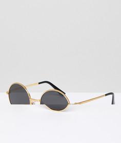 Круглые солнцезащитные очки Vogue by Gigi Hadid - Золотой