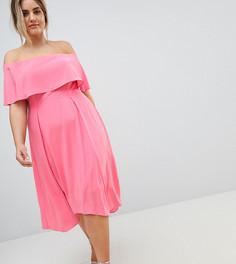 Платье миди со спущенными плечами Coast Plus Bonnie - Розовый