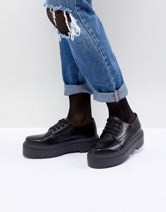 Туфли на массивной подошве ASOS DESIGN Menace - Черный