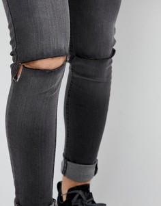 Рваные джинсы скинни Criminal Damage - Синий