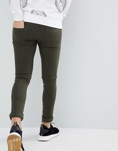 Оливковые джинсы скинни Criminal Damage - Зеленый