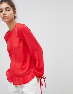 Блузка с баской New Look - Красный