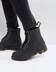 Ботинки из прочной парусины с 8 парами люверсов Dr Martens Pascal - Черный