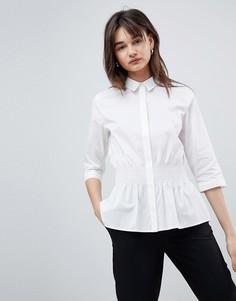 Рубашка с отделкой на талии Selected - Белый