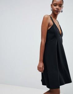Платье-трапеция миди Selected Kassia - Черный