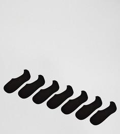 Комплект из 7 пар невидимых черных носков ASOS - Мульти