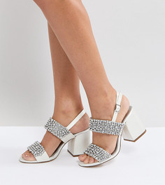 Босоножки на каблуке с отделкой ASOS HUBBY Bridal - Кремовый