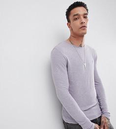 Обтягивающий лонгслив с вышивкой Heart & Dagger - Фиолетовый