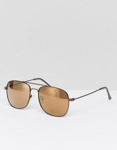 Серебристые квадратные солнцезащитные очки Jeepers Peepers - Серебряный