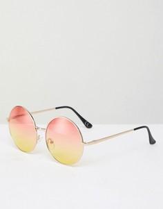 Круглые солнцезащитные очки с градуированными стеклами Jeepers Peepers - Золотой