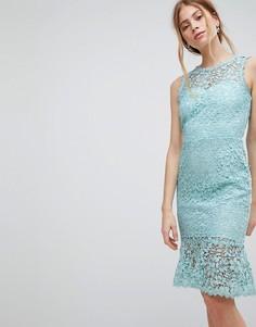 Платье с баской Paper Dolls - Синий