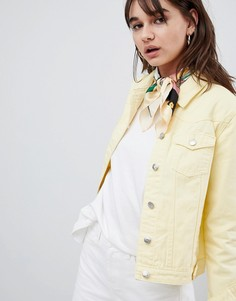 Рваная джинсовая куртка Urban Bliss - Желтый