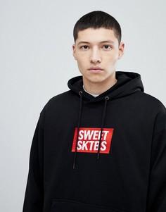 Худи черного цвета с логотипом на груди SWEET SKTBS - Черный