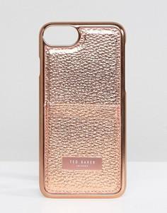 Чехол для iPhone 7 с отделением для карт Ted Baker - Розовый