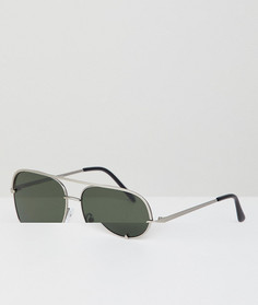 Солнцезащитные очки‑авиаторы AJ Morgan - Серебряный