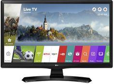 """LED телевизор LG 24MT49S-PZ """"R"""", 24"""", HD READY (720p), черный"""