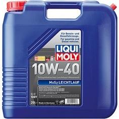 Полусинтетическое моторное масло liqui moly mos2 leichtlauf 10w-40 20л 1089