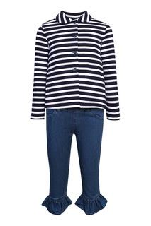 Комплект с джинсами, жакетом и футболкой Il Gufo