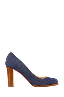 Джинсовые туфли London Buche 85 Christian Louboutin