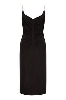 Черное платье с драпировками No21