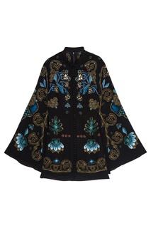 Шелковое платье с объемной вышивкой Alena Akhmadullina