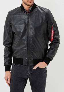 Куртка кожаная Alpha Industries