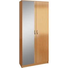 Шкаф двухдверный с зеркалом Мастер Ольга (Ш2З) (бук) МСТ-ПДО-Ш2-БК-З1 Master
