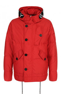 Пуховая куртка на молнии с капюшоном Givenchy