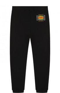 Хлопковые джоггеры с логотипом бренда Gucci