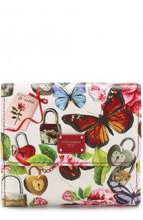 Кожаный кошелек с клапаном и принтом Dolce & Gabbana