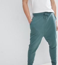 Зеленые выбеленные джоггеры с заниженным шаговым швом ASOS DESIGN Tall - Зеленый