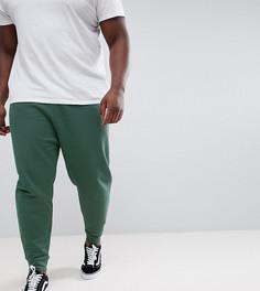 Зеленые выбеленные джоггеры заниженного кроя ASOS DESIGN Plus - Зеленый