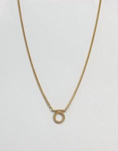 Золотистое ожерелье с подвеской в виде буквы омега Made - Золотой