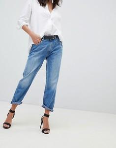 Укороченные джинсы бойфренда с классической талией G-Star 3301 - Синий