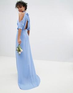 Платье макси с высоким воротом TFNC - Синий